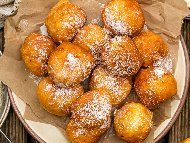 Рецепта Пържени бухтички с ябълки